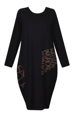 Alembika Sepia Animal Print Dress