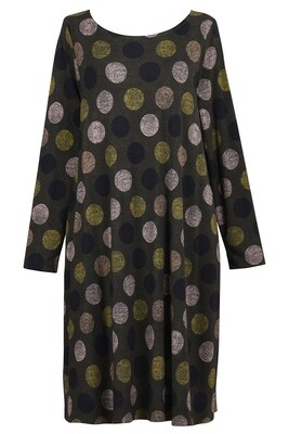 Alembika Olive Dots Dress