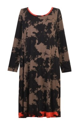 Alembika Taupe Tiedye Dress