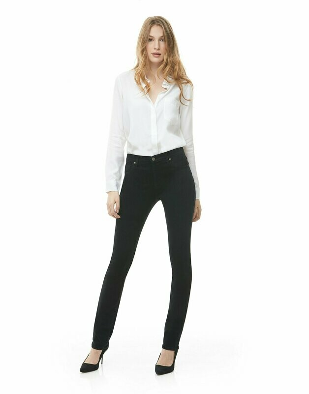 Yoga Jeans High Rise Skinny in Black