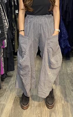Dress To kill Grey Black Stripe Crush Harem Pant
