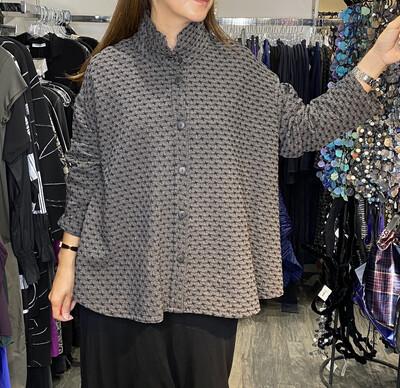 Dress To kill Charcoal Stars Split Back Shirt