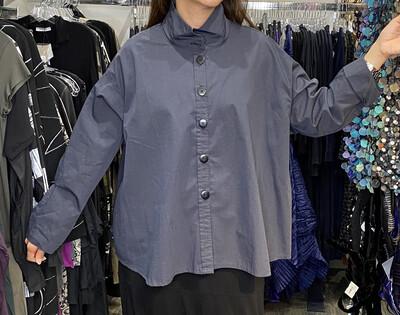 Dress To kill Slate Split Back Shirt