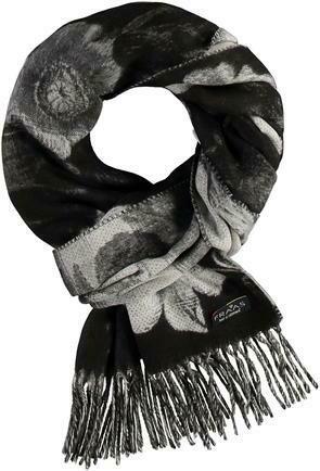 Cashmink Black Floral Scarf