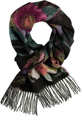 Cashmink Black Multi Floral Scarf