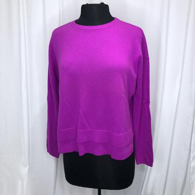Elliot Lauren Fuschia Tiered Cropped Cashmere Sweater