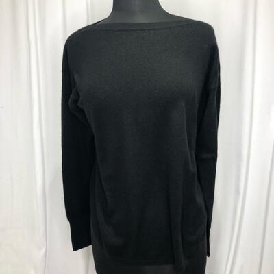 Elliot Lauren Black Boatneck Cashmere Sweater