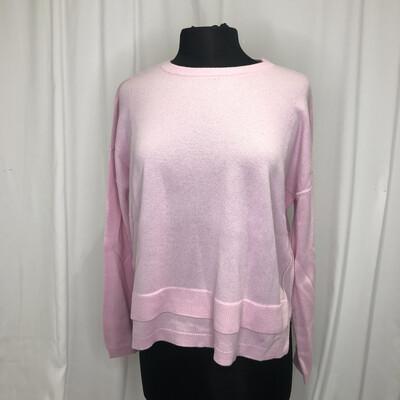 Elliot Lauren Pink Tiered Cropped Cashmere Sweater