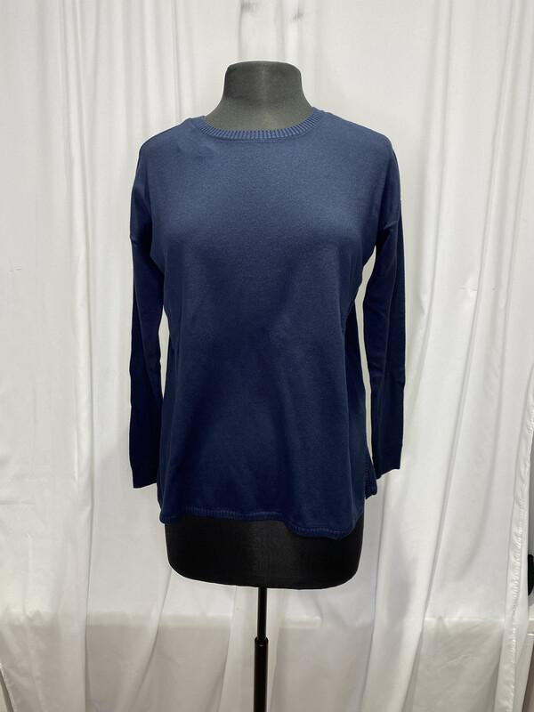Elliot Lauren Navy Cotton Sweater