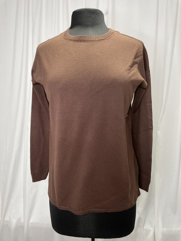 Elliot Lauren Brown Cotton Sweater