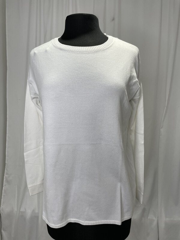 Elliot Lauren White Cotton Sweater