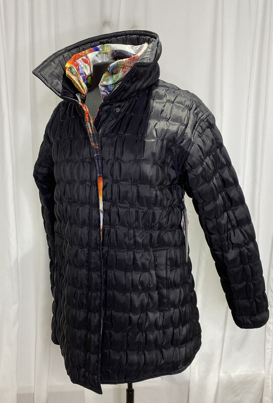 UBU Black Reversible Padded Rain Jacket