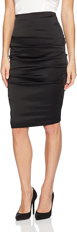 Nicole Miller Satin Ruched Skirt