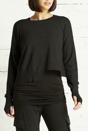 Planet Pima Cotton Mini Knit Crewneck Sweater