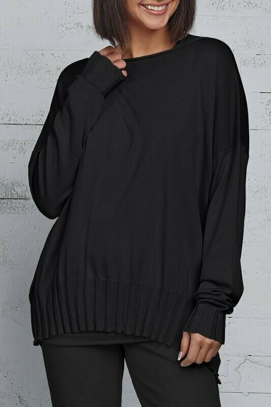 Planet Pima Cotton Boatneck Rib Sweater