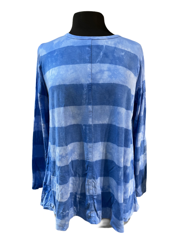 Annie Turbin Blue Stripes Center Seam Tee
