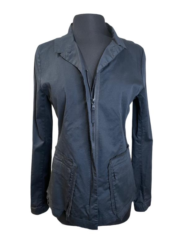 Studio Rundholz Black Stitch Pockets Zipper Jacket
