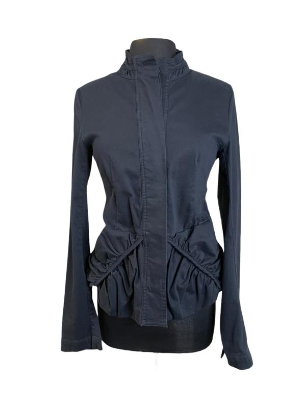 Studio Rundholz Dark Blue Twill Ruched Pocket Jacket