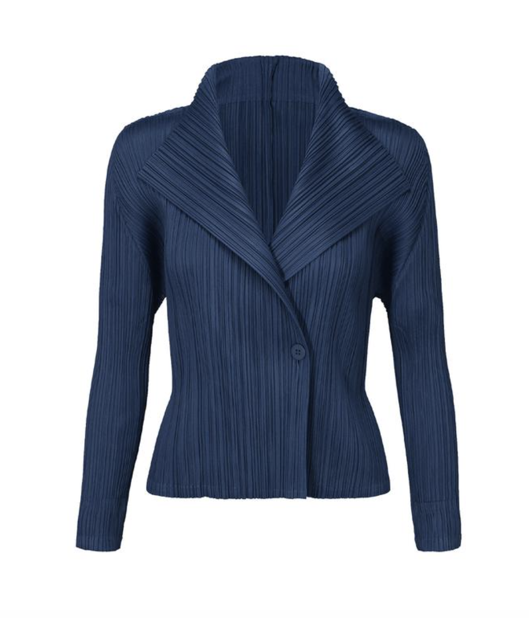 Pleats Please by Issey Miyake Blue Jacket