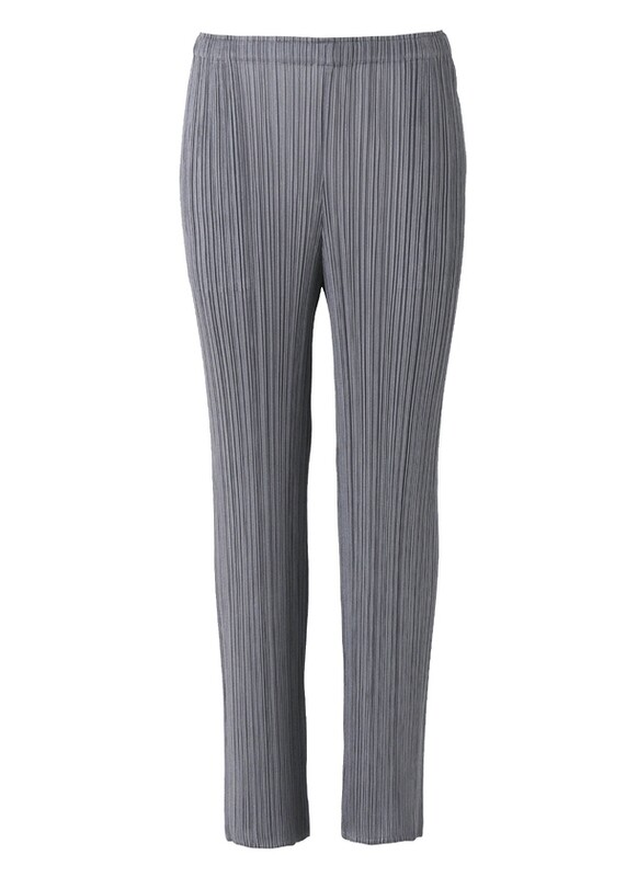 Pleats Please by Issey Miyake Straight Pant in Gray