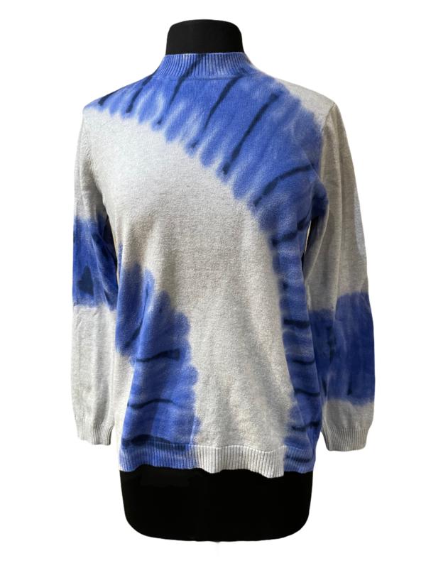 Peace of Cloth Blue Tie Dye Turtleneck Sweater