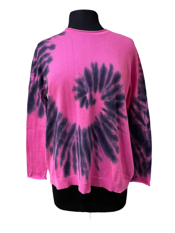Peace of Cloth Pink Tie Dye Boxy Sweater