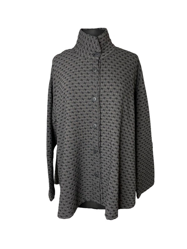 Dress to Kill Charcoal Stars Split Back Shirt