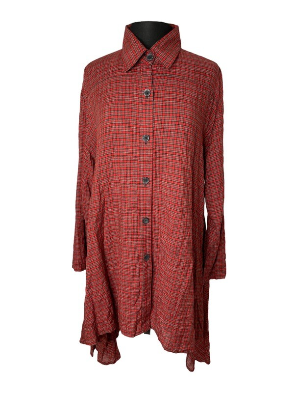 Dress to Kill Red Mini Plaid Amy Shirt