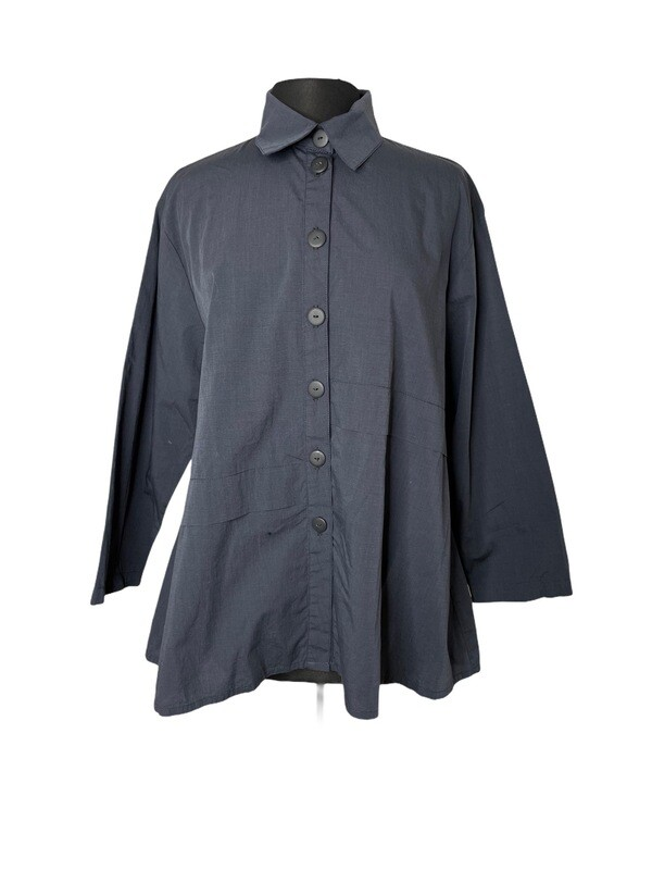 Dress to Kill Slate Folded High Low Shirt