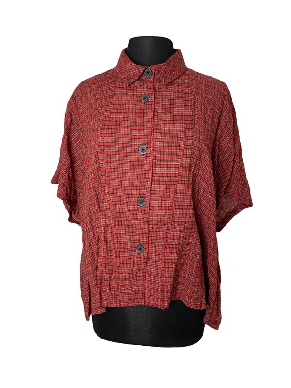 Dress to Kill Red Mini Plaid Crappy Shirt