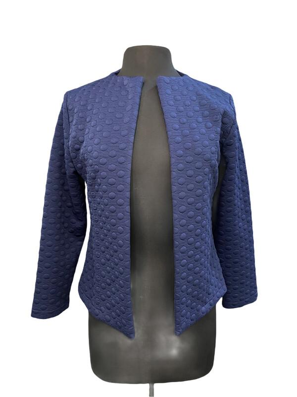 Andria Lieu Nicky Jacket Textured Dots Navy