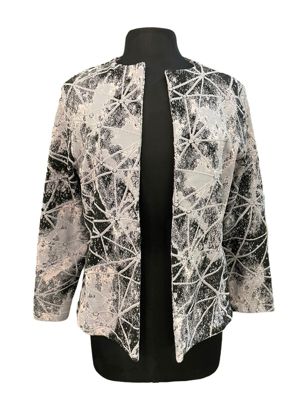 Andria Lieu Nicky Jacket Gray & Pink Print
