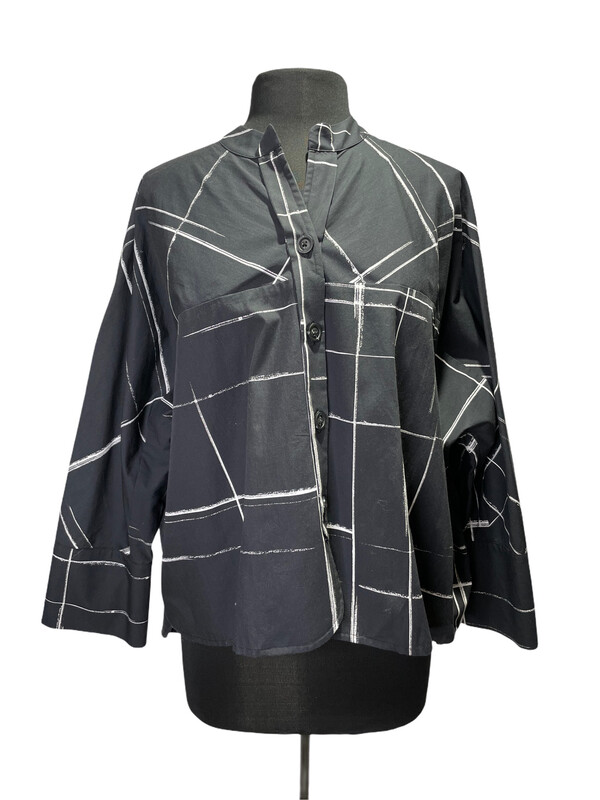 Crea Black Window Pane Shirt