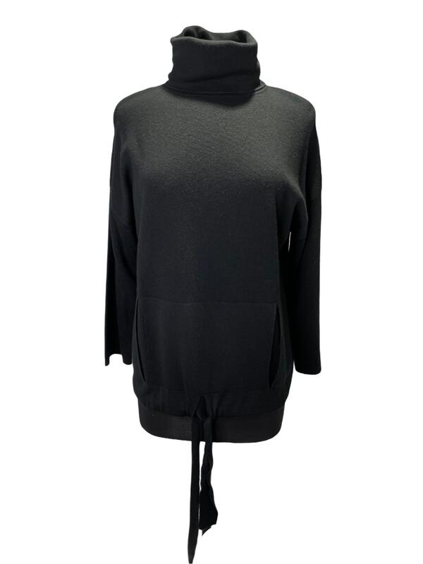Kokun Wool Turtleneck Drawstring Sweater