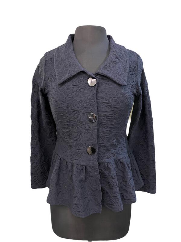 Andria Lieu Charlotte Jacket Black Crinkle