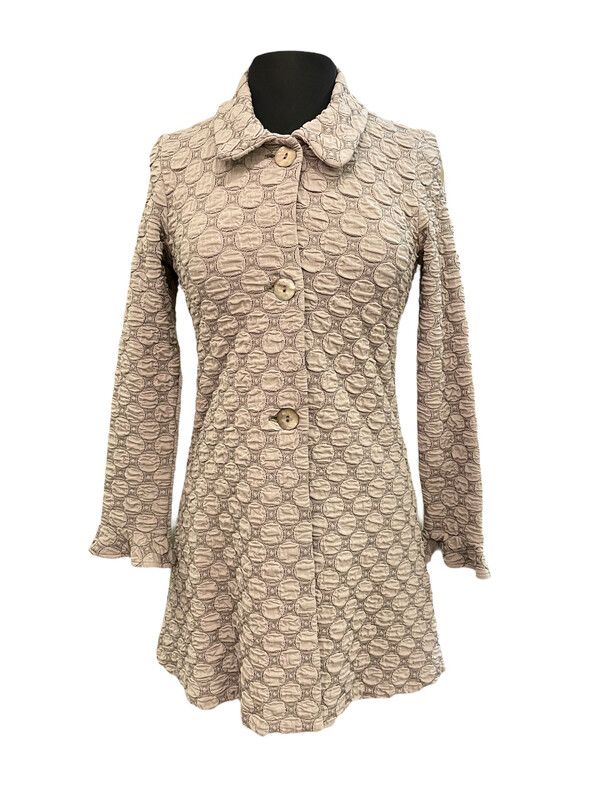 Andria Lieu Long Justine Jacket Taupe