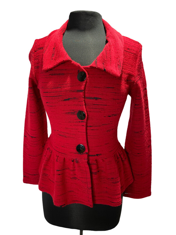 Andria Lieu Red Charlotte Jacket Cozy Knit