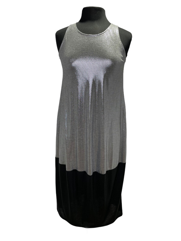 Avivit Yizhar Tank Dress w/Bell Hem Silver/Black