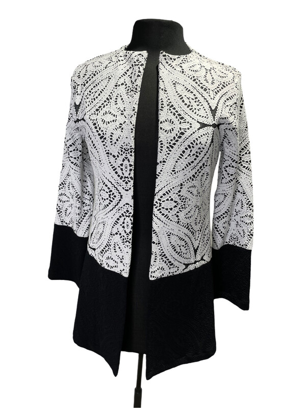 Andria Lieu Judith Jacket White Lace Print