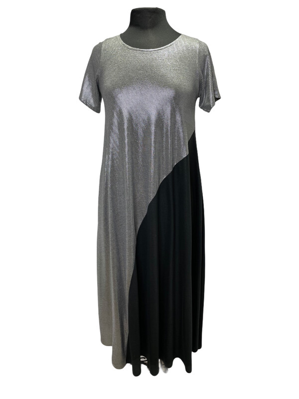 Avivit Yizhar Long S/S Dress Silver/Black