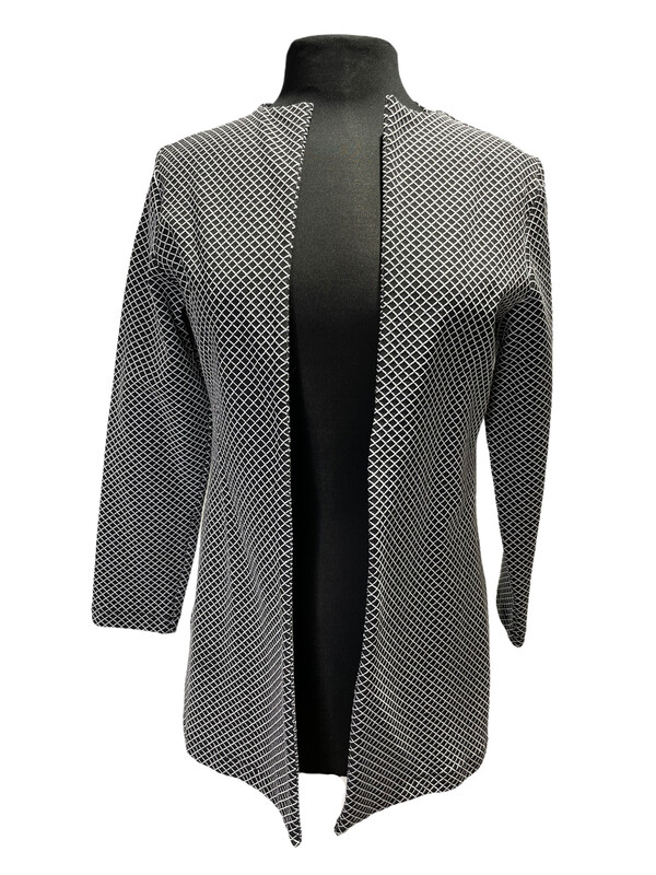Andria Lieu Long Judith Jacket  Black/White Tatersol