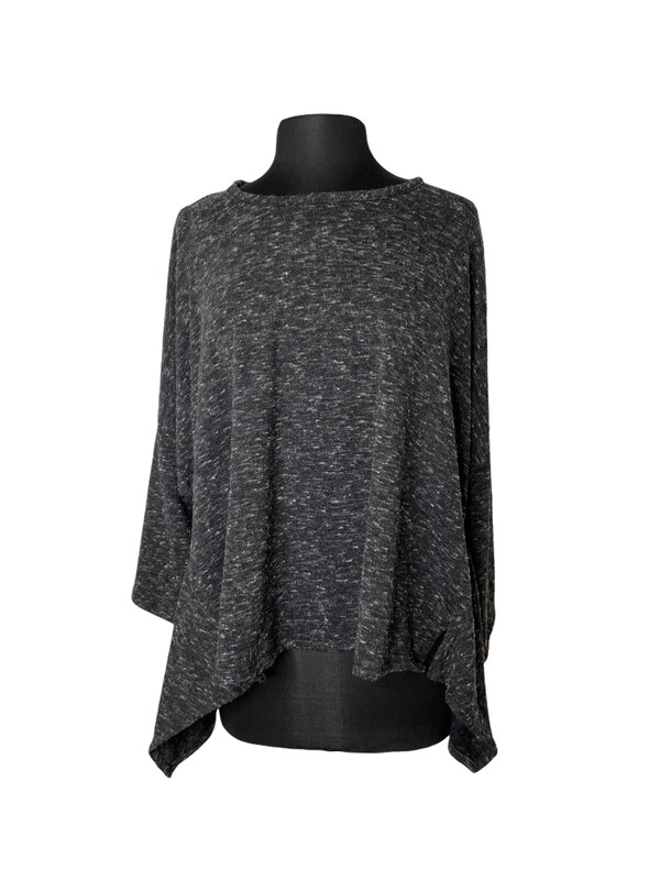 Dress to Kill Charcoal Heather Long Sleeve Tea Shirt