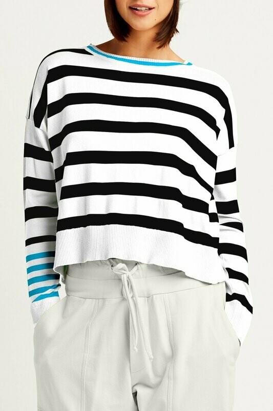 Planet Pima Cotton Classic Stripe Crew Sweater
