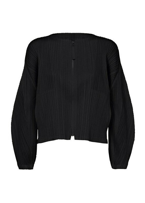 Pleats Please by Issey Miyake Zip up Black Jacket