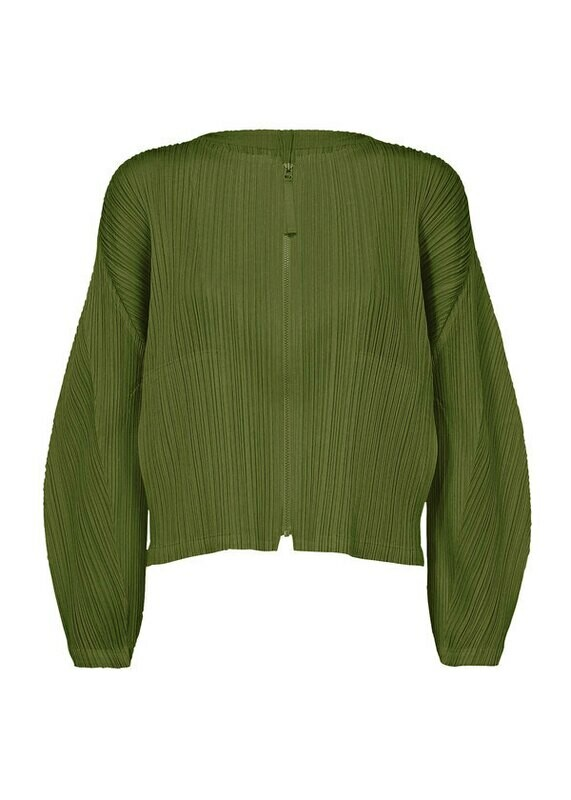 Pleats Please by Issey Miyake Zip up Cedar Jacket