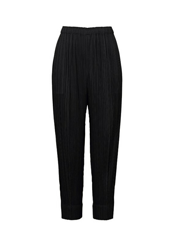 Pleats Please by Issey Miyake Black Tapered Pants
