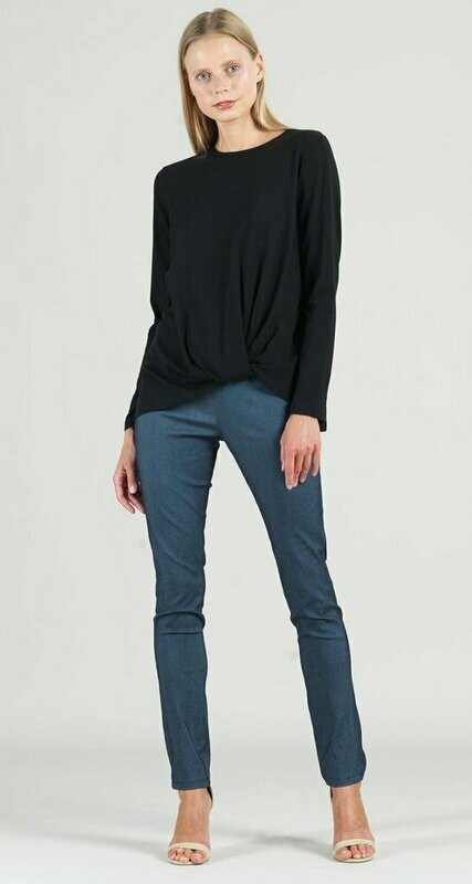 Clara Sun Woo Black Twist Hem Top