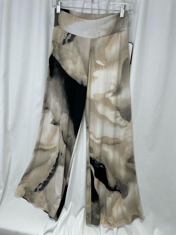Clara Sun Woo Sand Abstract Flowy Pant