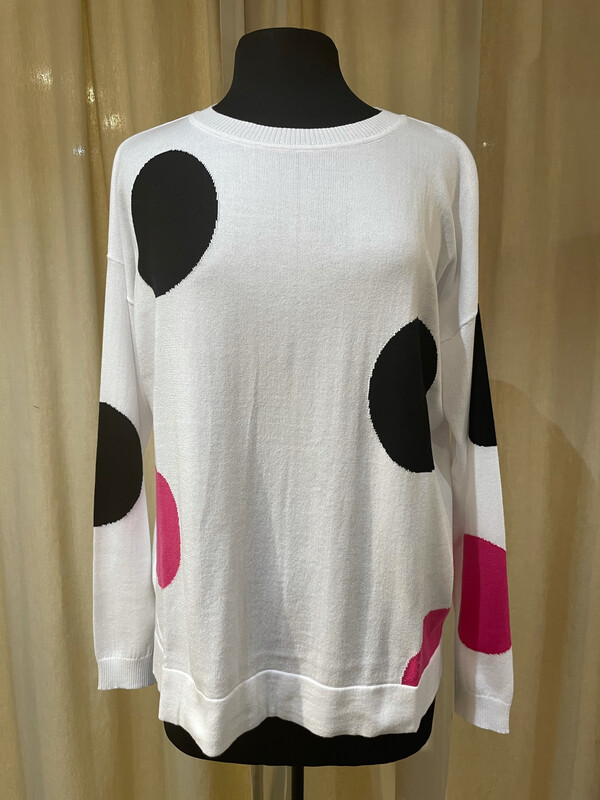 Planet Pima Cotton Seeing Spots Crewneck Sweater