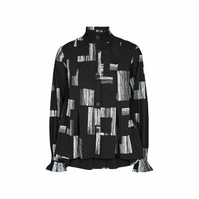 TKS Black and White Square Print Shirt